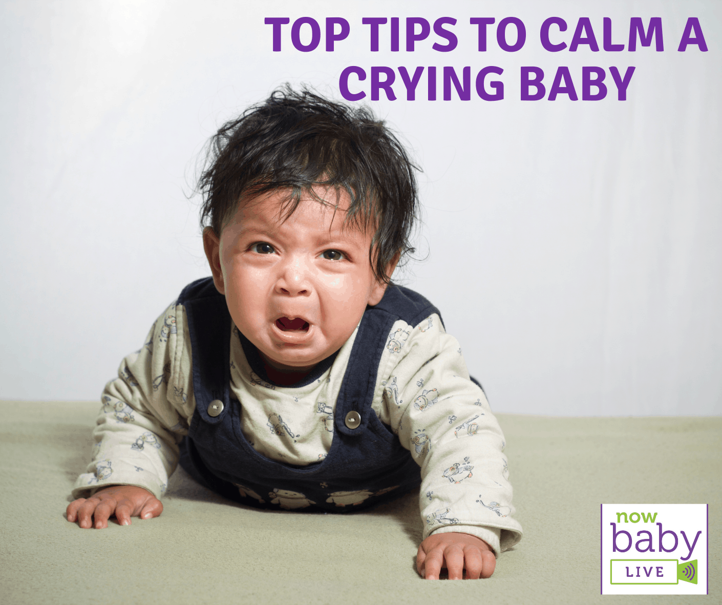 Top tips to calm a crying baby